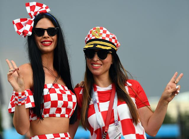 Croatian fans with accoutrements.