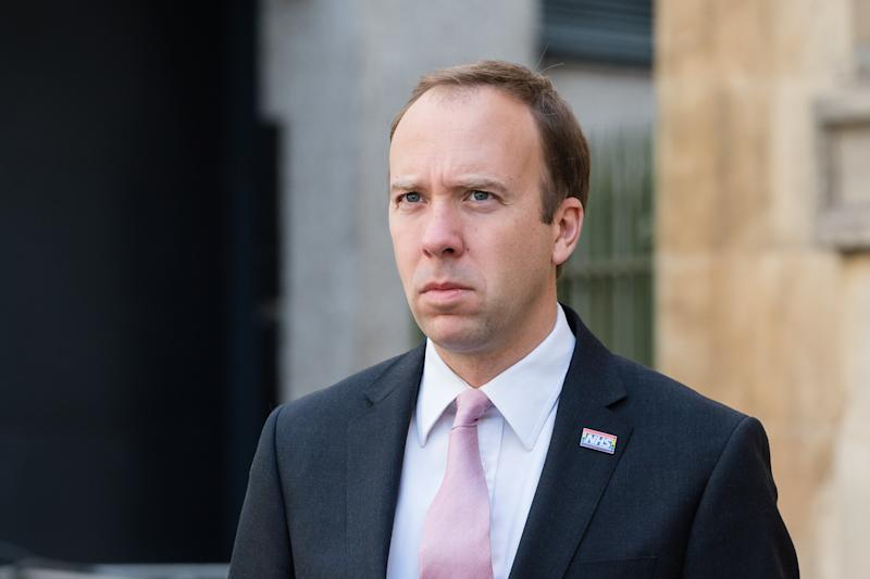 LONDON, UNITED KINGDOM - SEPTEMBER 20, 2020: Secretary of State for Health and Social Care Matt Hancock speaks to media outside the BBC Broadcasting House in central London before appearing on The Andrew Marr Show on 20 September, 2020 in London, England.- PHOTOGRAPH BY Wiktor Szymanowicz / Barcroft Studios / Future Publishing (Photo credit should read Wiktor Szymanowicz/Barcroft Media via Getty Images)