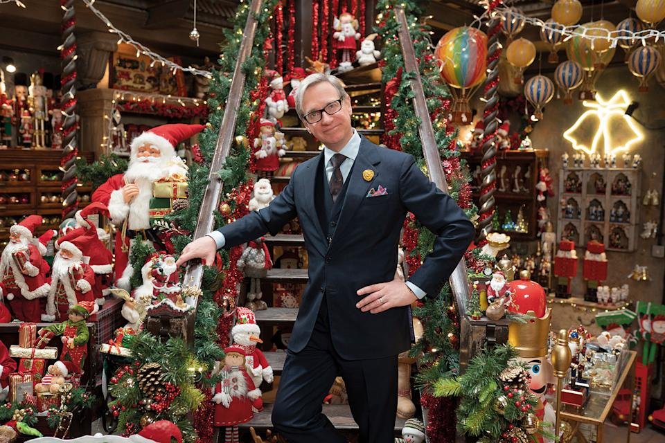 Director Paul Feig on the set of <i>Last Christmas</i>. (Jonathan Prime/Universal Pictures)