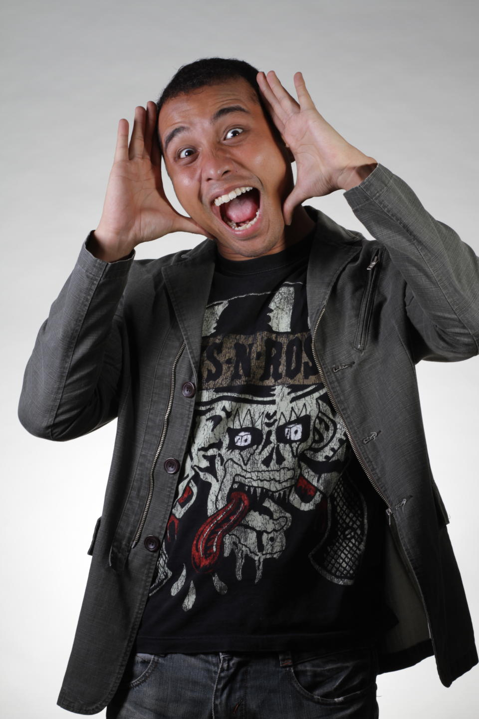 """<b><p>Fakkah Fuzz, 26</p></b> <b><p>Stand-up Comedian</p></b> <br> <p>Fakkah Fuzz is one of the fastest rising talents in the local stand up comedy scene. Performing stand up comedy for almost 3 years, Fuzz has performed in local open mics and feature shows, receiving positive reviews from local media such as The Straits Times Life, Berita Harian, The New Paper, 8 days magazine and Channel NewsAsia.</p> <br> <p>In August 2011, Fuzz was chosen as the headlining comedian to represent Singapore in """"Laugh Off Asia 2011"""", a new concept comedy show that pitched Singaporean comics against their Malaysian counterparts. In addition, after performing for Wild Rice Annual Ball and the Singapore leg of """"Laugh of Asia"""" (Singapore Vs Philippines), Fuzz has also ventured into Malaysia and performed alongside international headliners like JJ Whitehead (Canada) and Anil Desai (UK) with The Comedy Club KL. He has even opened for the likes of Malaysian comedy heavyweight Harith Iskander.</p> <br> <p>In 2012, Fuzz made his debut in Hong Kong with TakeOut Comedy, featured as one of the headline acts for a monthly show in Kuala Lumpur called """"Comedy Kao Kao"""". He has also hosted a Malaysian live comedy show called """"The Goodflers"""". He is also one of the finalists for a local stand up competition, """"Stand Up for Singapore"""".</p>"""