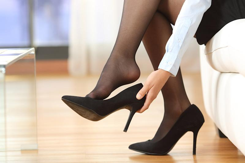 Debate: A parliamentary inquiry was set up after a woman was sent home from work for refusing to wear heels: Shutterstock