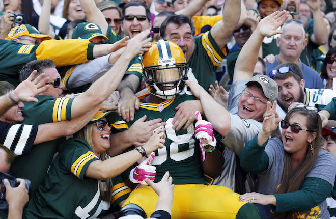 In the middle rounds, Ty Montgomery backers hope he stands out from the RB crowd. (AP)