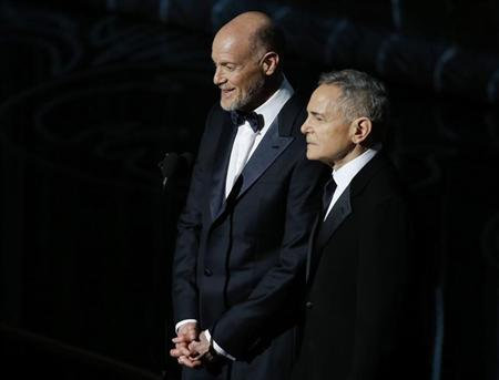 Zadan and Meron, Academy Award Producers, look on at the 86th Academy Awards in Hollywood