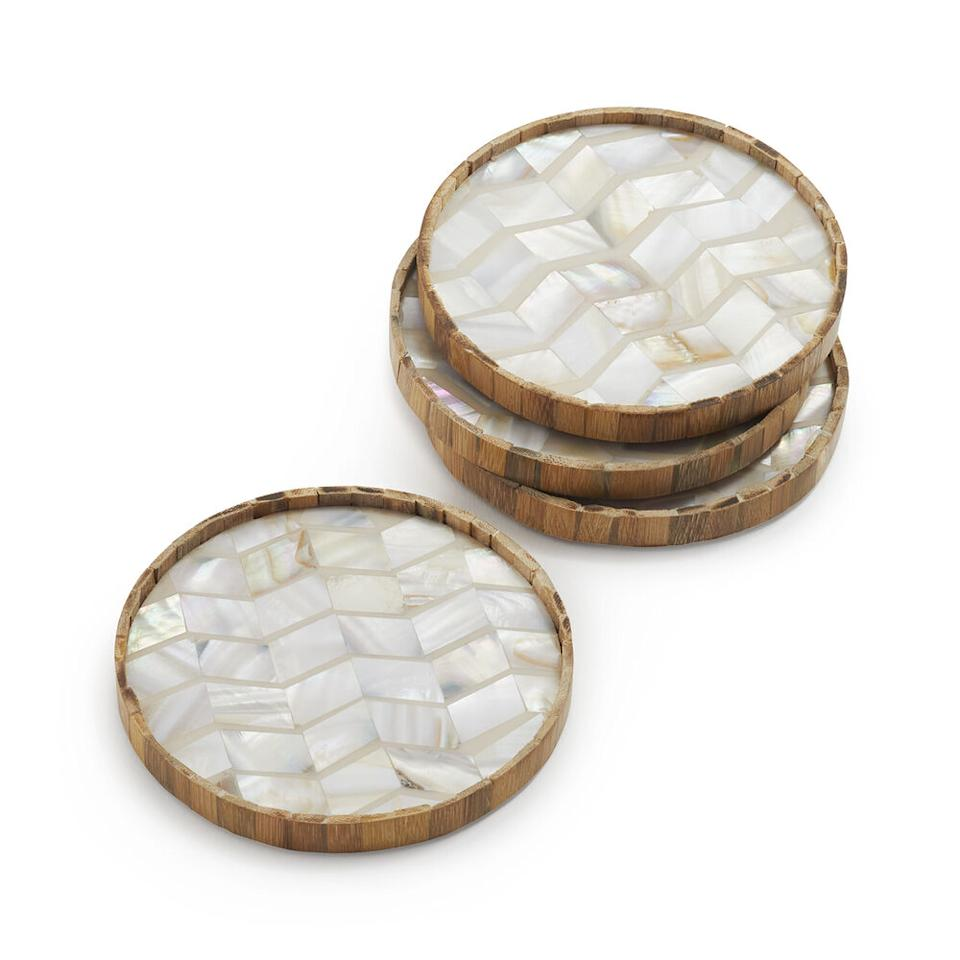 Someday you'll entertain again—and guests will gush about these coasters. (Photo: Sur La Table)