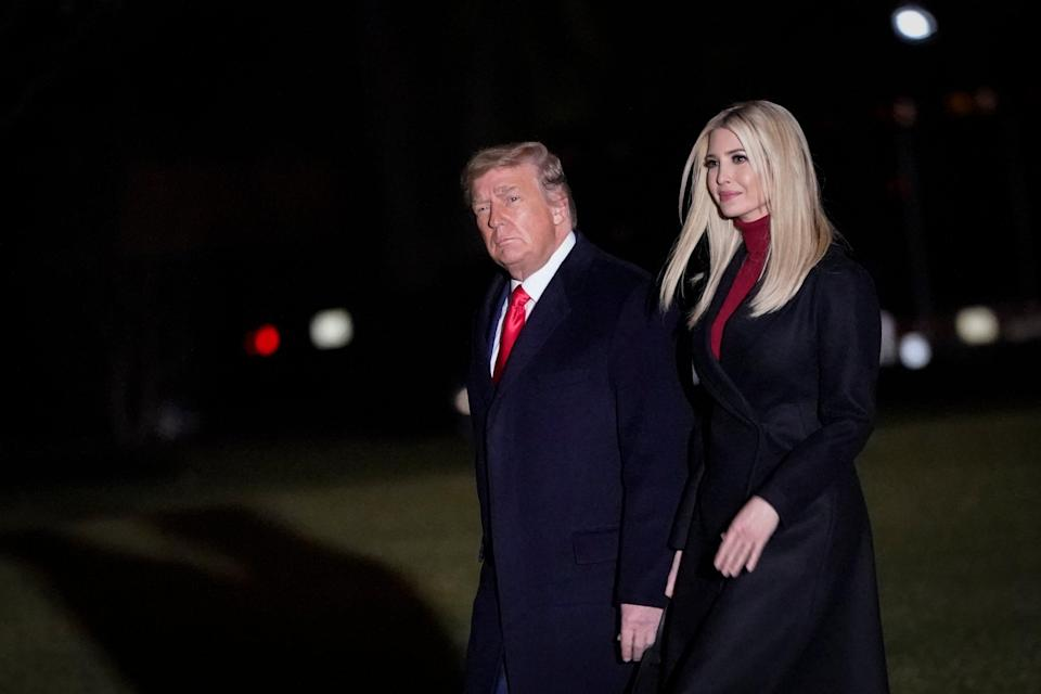 File: Donald Trump and three of his adult children are accused of exploiting their family name to promote a marketing scam targeting the poor and working class (Getty Images)