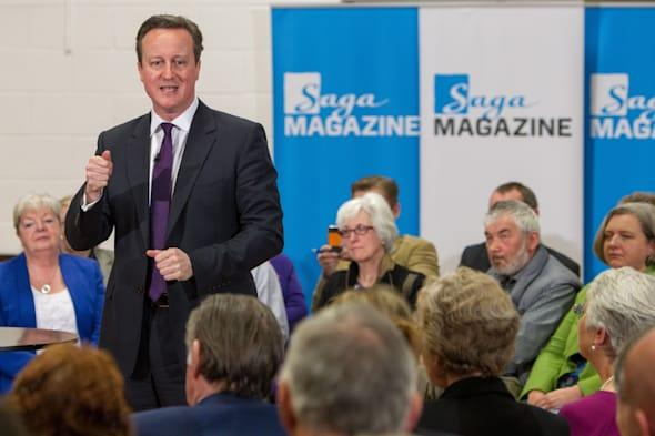 Prime Minister David Cameron speaks to an audience during a PM Direct event at the Meridian Community Centre in Peacehaven, Sussex. PRESS ASSOCIATION Photo. Picture date: Monday March 24, 2014. See PA story POLITICS Pensions. Photo credit should read: Steve Parsons/PA Wire