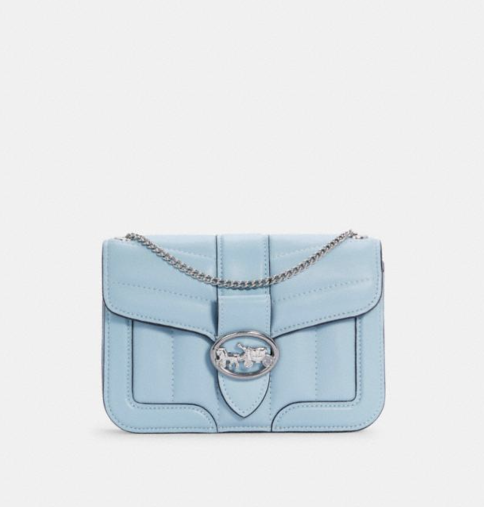 Georgie Crossbody in Waterfall (Photo via Coach Outlet)