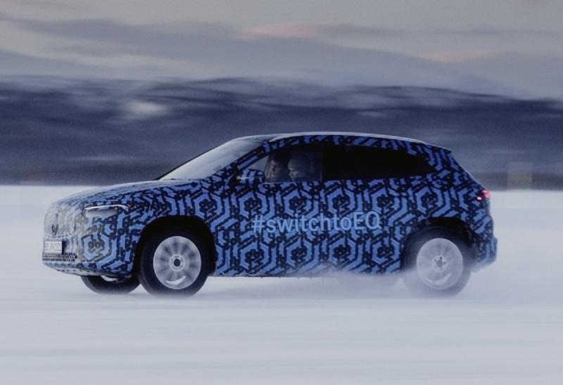 Mercedes-EQA-Snow-Test-Run