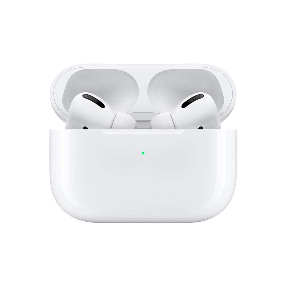 """Who wouldn't love to unwrap a pair of fresh AirPods?! $249, Amazon. <a href=""""https://www.amazon.com/Apple-MWP22AM-A-AirPods-Pro/dp/B07ZPC9QD4/"""" rel=""""nofollow noopener"""" target=""""_blank"""" data-ylk=""""slk:Get it now!"""" class=""""link rapid-noclick-resp"""">Get it now!</a>"""