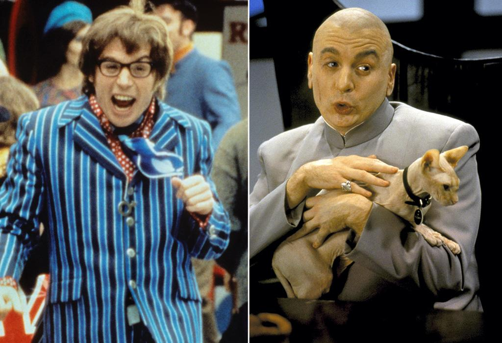 """<a href=""""http://movies.yahoo.com/movie/1800020374/info"""">AUSTIN POWERS, INTERNATIONAL MAN OF MYSTERY</a> (1997)   Actor: <a href=""""http://movies.yahoo.com/movie/contributor/1800018678"""">Mike Myers</a>  Characters: Swinging, switched-on, supremely shagadelic super-spy Austin Powers, and the bald, bellicose, Belgian baddie Dr. Evil."""