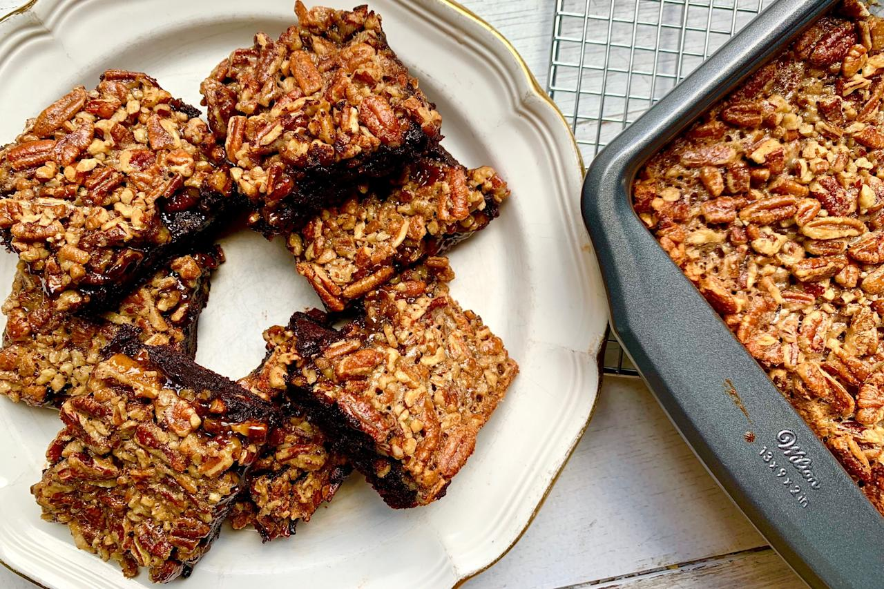 "<p><b>Recipe: <a href=""https://www.southernliving.com/recipes/pecan-pie-brownies"">Pecan Pie Brownies</a></b></p> <p>Southerners will absolutely swoon over this dessert that combines the best of pecan pie and brownies.</p>"