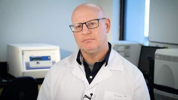 Charles Heinstein is the manager of the primary microbiology lab for the central zone. (David Blomme/NSHA - image credit)