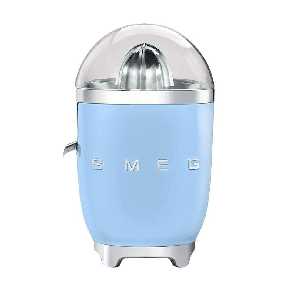 "<p><strong>SMEG</strong></p><p>williams-sonoma.com</p><p><strong>$179.95</strong></p><p><a href=""https://go.redirectingat.com?id=74968X1596630&url=https%3A%2F%2Fwww.williams-sonoma.com%2Fproducts%2Fsmeg-citrus-juicer_0%2F&sref=https%3A%2F%2Fwww.bestproducts.com%2Fappliances%2Fsmall%2Fg632%2Fbest-cold-press-juicers%2F"" rel=""nofollow noopener"" target=""_blank"" data-ylk=""slk:Shop Now"" class=""link rapid-noclick-resp"">Shop Now</a></p><p>If you juice lemons, grapefruits, or oranges on the regular, check out this very chic juicer from SMEG. Reviewers love the intuitive and simple design of this juicer, plus the fact that it's incredibly easy to clean (it's dishwasher-safe, too). Just hold your halved fruit on the reamer and the powerful 80-watt motor kicks in, delivering juice directly to your glass through a drip-free spout.</p><p>If you love making fresh-squeezed orange juice for breakfast or squeezing your own citrus to make craft cocktails at home, I highly recommend this citrus juicer. </p><p>Plus, come <em>on</em>! Look at that retro aesthetic and color selection.<br></p>"
