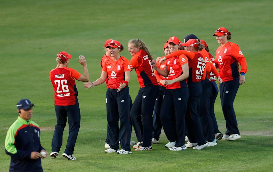 England celebrate a wicket (Action Images via Reuters/Matthew Childs)