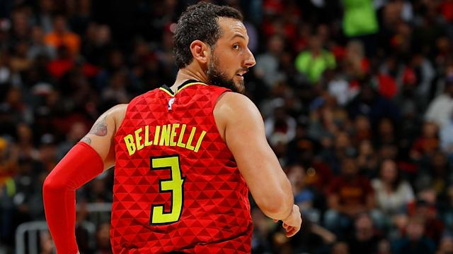 "<a class=""link rapid-noclick-resp"" href=""/nba/players/4296/"" data-ylk=""slk:Marco Belinelli"">Marco Belinelli</a> has averaged 11.4 points in 52 games with the <a class=""link rapid-noclick-resp"" href=""/nba/teams/atl/"" data-ylk=""slk:Atlanta Hawks"">Atlanta Hawks</a> this season. (Getty)"