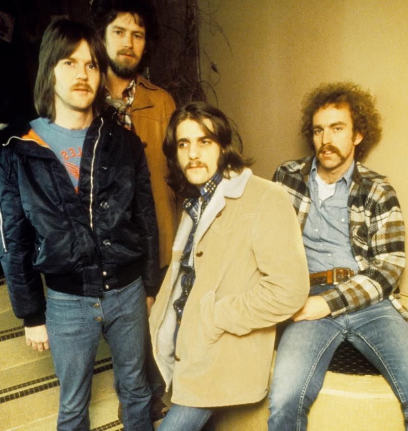 The Eagles' founding members, Randy Meisner, Don Henley, the late Glenn Frey and Bernie Leadon, are seen in 1973. On Monday, their greatest hits album became the best-selling album of all time.