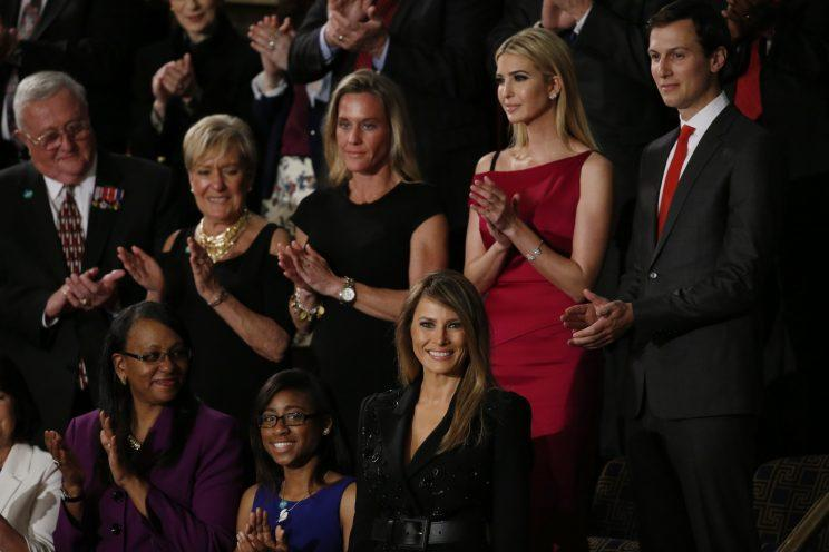 Ivanka Trump wore a pink Roland Mouret dress to her father's Joint Session of Congress address. (Photo: Reuters)