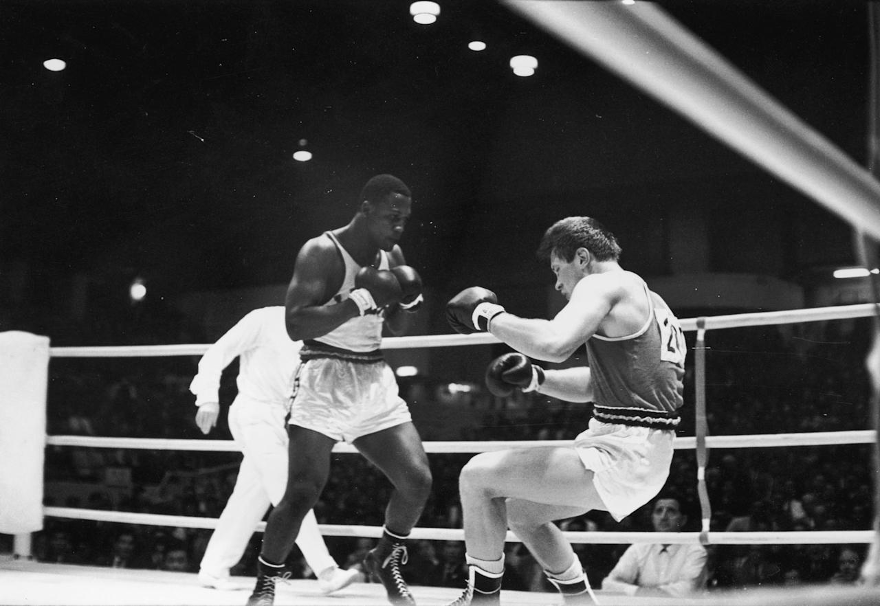 "<p>The late, great ""Smokin' Joe"" Frazier was the undisputed heavyweight champion of the world from 1970 to 1973. Before that, he was a gold medalist at the 1964 Summer Olympics, when he was sent as a last-minute replacement for the injured Buster Mathis. (Getty) </p>"