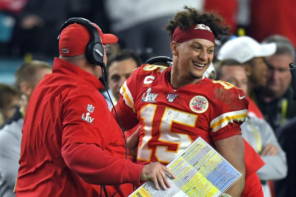 Do opponents really want to vote in another edge for Patrick Mahomes? (AP Photo/Mark J. Terrill)