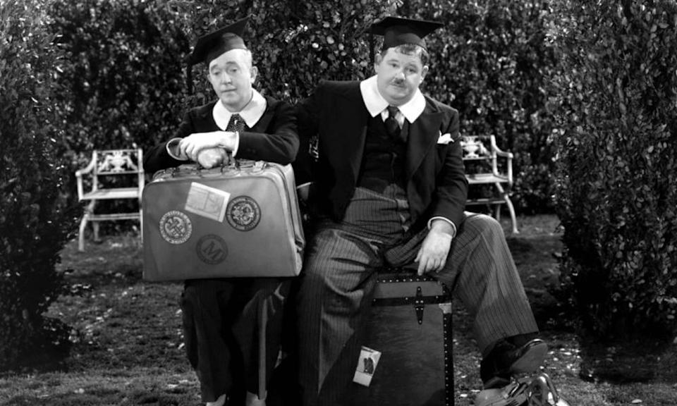 Stan and Ollie in A Chump at Oxford.