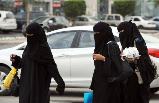 Saudi Arabian women shopping in Riyadh on November 19, 2012