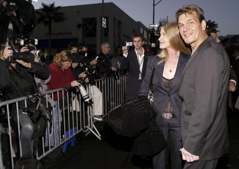Patrick Swayze and his wife Lisa at a red carpet event. Source: Reuters