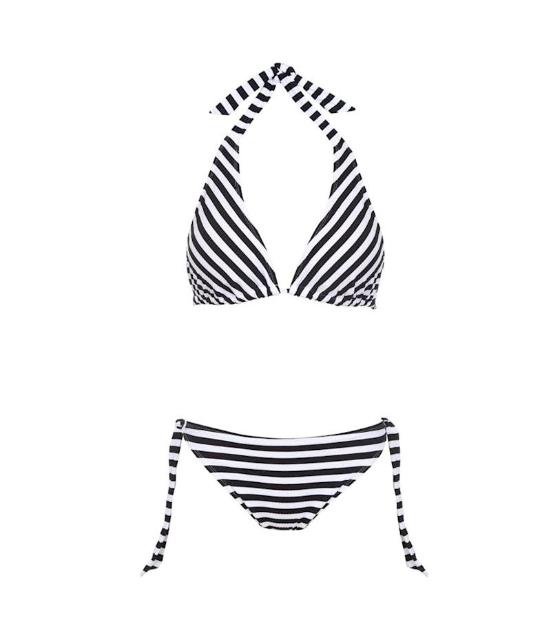 Ashley Graham x Swimsuits for All Elite Striped Ribbed Triangle Bikini