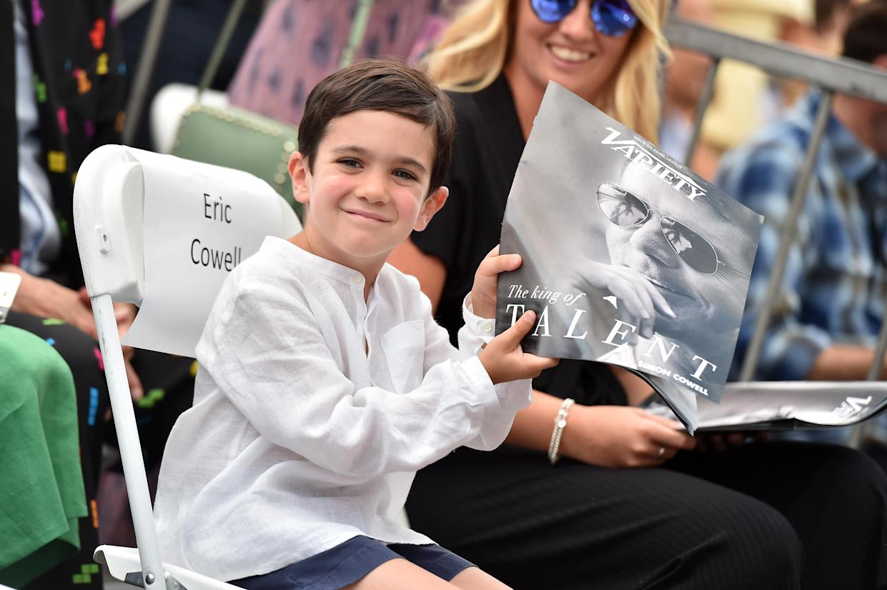 Eric Cowell attends a ceremony honoring his dad, Simon Cowell, with a star on the Hollywood Walk of Fame on Aug. 22, 2018. (Photo: Rich Fury/Getty Images)