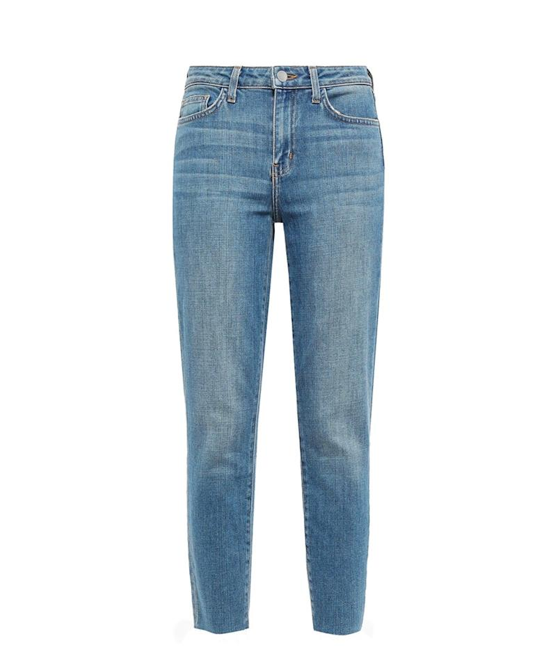 "$225, The Outnet. <a href=""https://www.theoutnet.com/en-us/shop/product/l-agence/jeans/slim-leg-jeans/faded-high-rise-slim-leg-jeans/16174186156262286"">Get it now!</a>"
