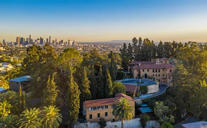Built in 1923, the 18,000-square-foot mansion once used as a convent is surrounded by gardens, lawns and a trio of guest cottages.
