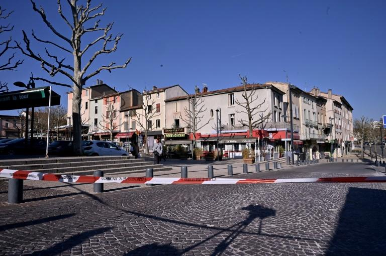 The assailant went on the attack in several stores in the southeastern French town of Romans-sur-Isere