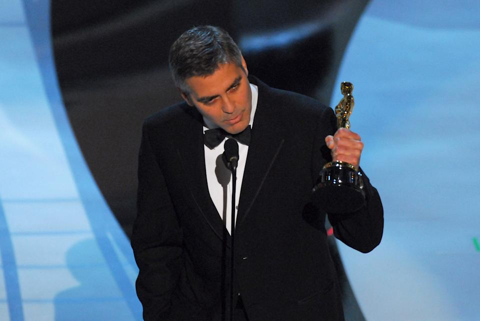 George Clooney accepts award for Performance by an Actor in a Supporting Role for