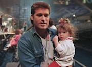 <p>Billy Ray Cyrus and Miley Cyrus in 1994.</p>
