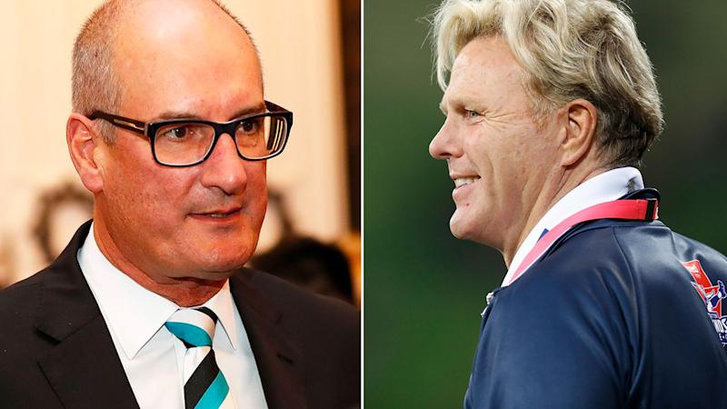 Pictured here, Port Adelaide chairman David Koch and AFL great Dermott Brereton.