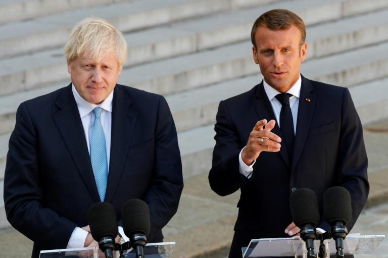 Macron has rejected calls by British premier Johnson to scrap the backstop provision (AFP Photo/GEOFFROY VAN DER HASSELT)