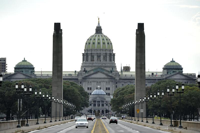 This 2011 file photo shows thestate Capitol in Pennsylvania. (MLADEN ANTONOV via Getty Images)