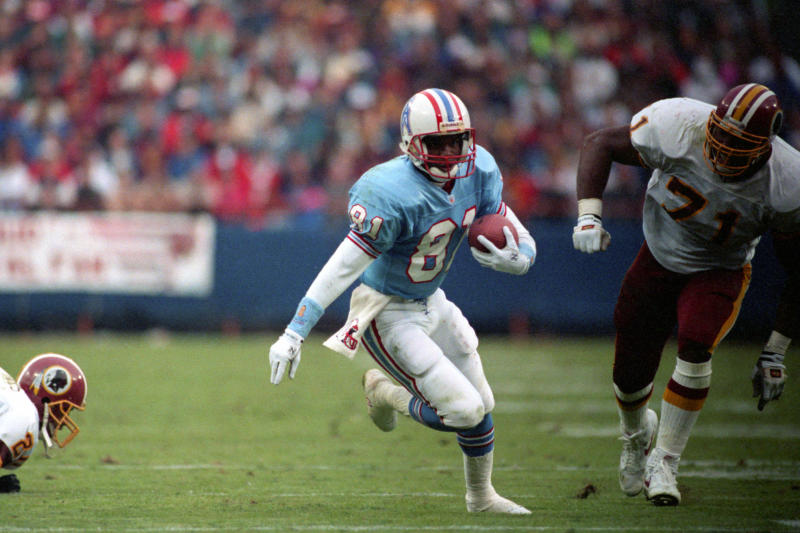 Wide receiver Ernest Givins #81 of the Houston Oilers