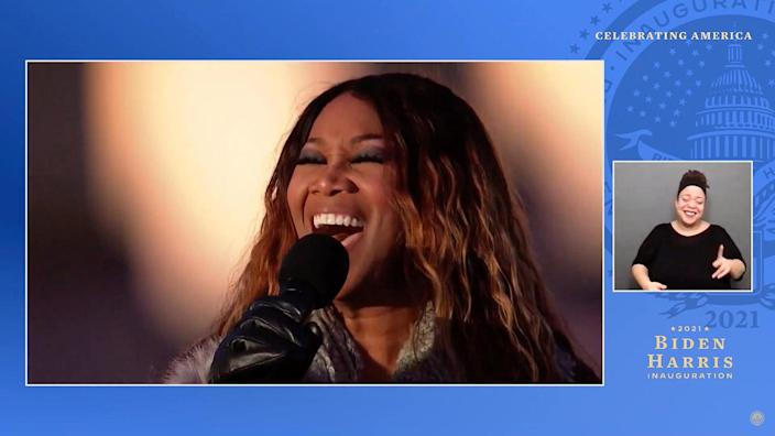 """<p>Part of the special looked back at the previous night, when gospel performer Yolanda Adams sang a version of Leonard Cohen's much-loved and much-covered """"Hallelujah"""" to honor of the hundreds of thousands of lives that were lost to COVID-19 during a memorial at the Lincoln Memorial Reflecting Pool.</p>"""