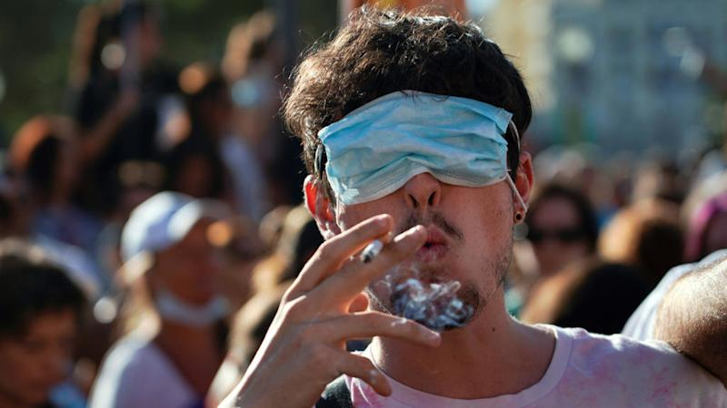 Spaniards hold anti-mask protest in Madrid as Covid-19 cases rise