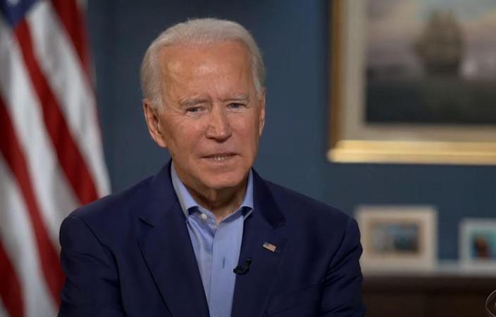 Joe Biden discusses Sen. Lindsey Graham with Steven Colbert on The Late Show  (CBS/The Late Show via YouTube)
