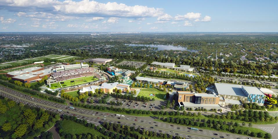 Renderings provided by the Hall of Fame Resort & Entertainment Company.