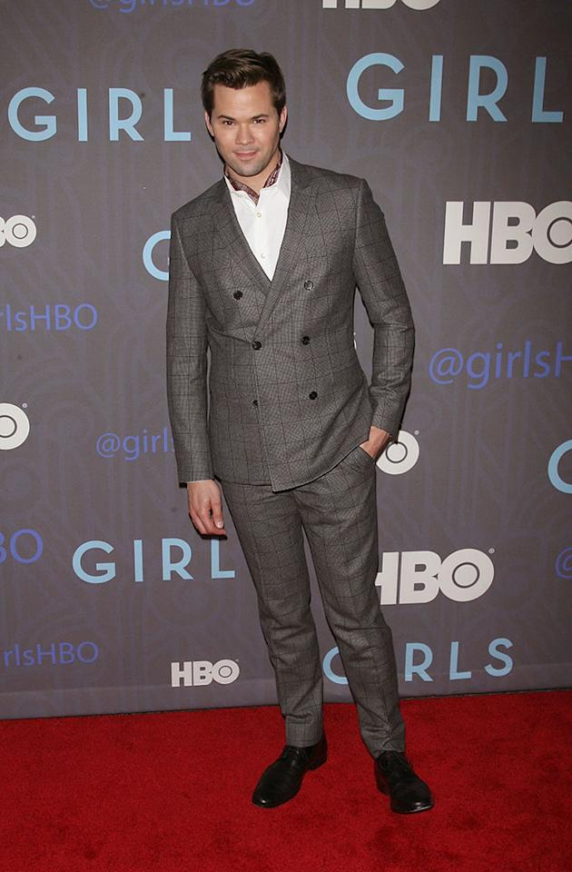 "Andrew Rannells attends HBO's premiere of ""Girls"" Season 2 at the NYU Skirball Center on January 9, 2013 in New York City."