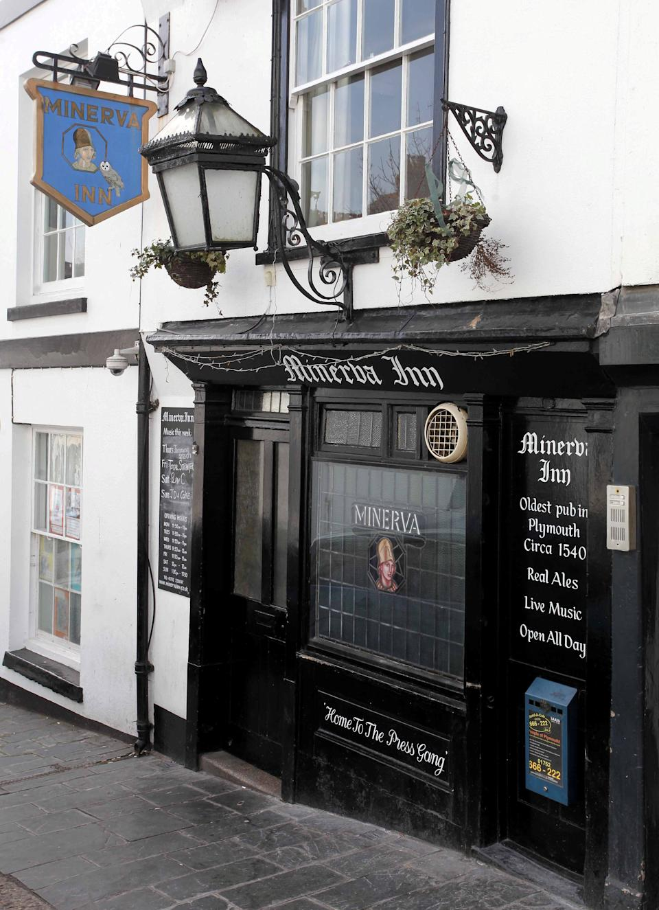 The historic Minerva Inn in Plymouth (file photo) See SWNS story SWPLdaughter. A pub landlady has admitted to turning away her own daughter after introducing a ban on unvaccinated customers. Shelly Jones, who owns the Minerva Inn, in Plymouth, made the controversial decision to keep out any punter who cannot show proof of their Covid-19 vaccination status. The publican said the strict policy was to protect her older and more vulnerable clientele, who have proven loyal throughout the pandemic.