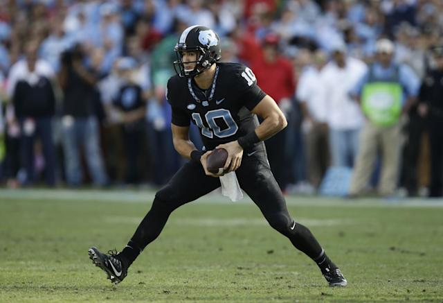 North Carolina QB Mitch Trubisky could go high despite questions about the one-year starter. (AP)