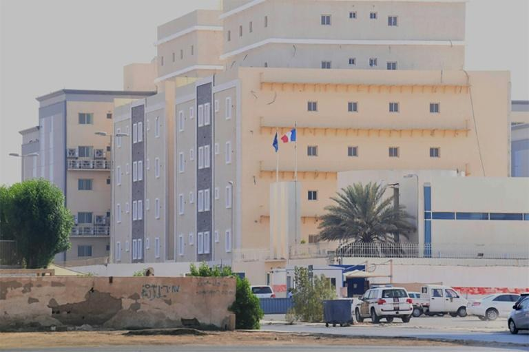 France's consulate in the Saudi Red Sea port of Jeddah where a guard was wounded in a knife attack
