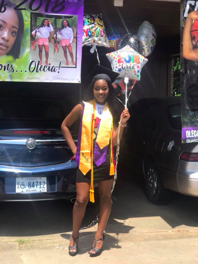 Olecia James is suing her Mississippi school district, alleging that she should have been named salutatorian for her high school's 2018 graduating class instead of a fellow student who is white and had a lower grade point average. (Photo: Courtesy of Facebook/Olecia James)