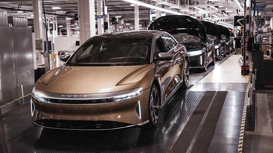 The factory will begin by building 520 Lucid Air Dream Edition models. - Credit: Lucid Motors