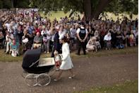 <p>Princess Charlotte's christening was the most public christening in royal history. There's a designated viewing area for thousands of spectators. </p>
