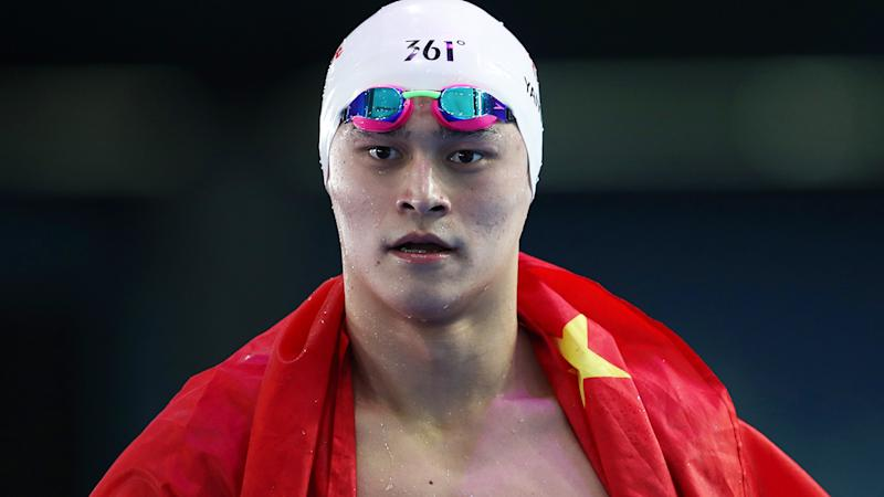 Sun Yang, pictured here in action at the FINA World Championships in 2017.