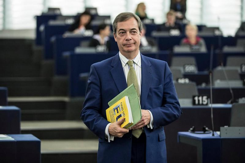 Nigel Farage, pictured earlier this month, had previously vowed to 'get rid' of Gerard Batten as Ukip leader (Jean-Francois Badias/AP)